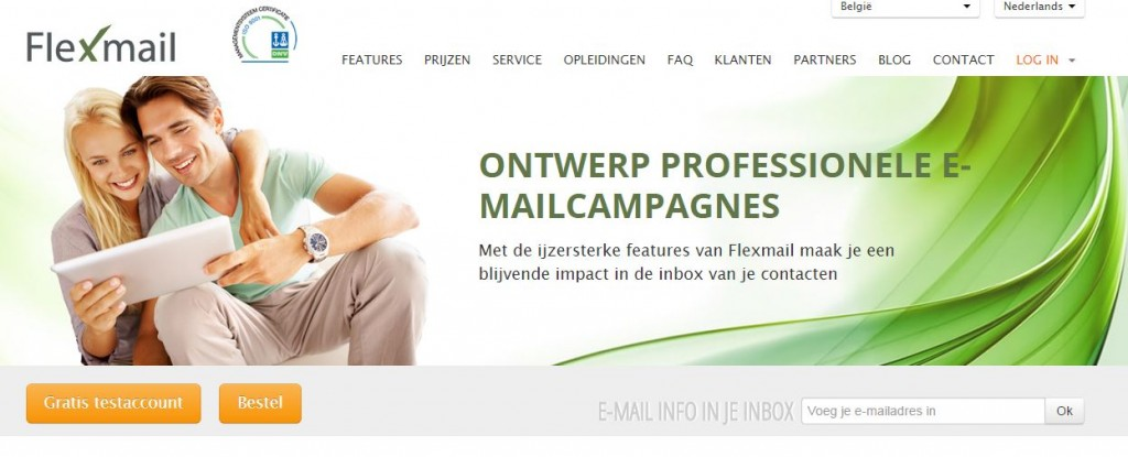 Flexmail website