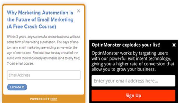 sldie-in email marketing